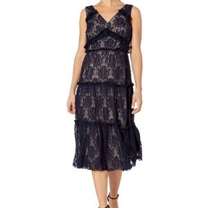 NWT Maggy London tiered lace cocktail dress, 8P